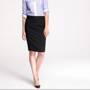 J Crew Light Wool Black Womens Pencil Skirt